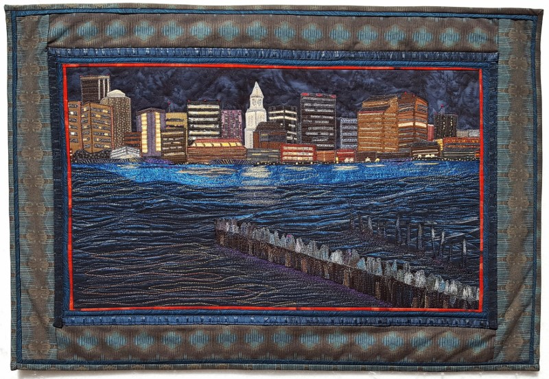 Boston Harbor Lights as Viewed from East Boston 29.5 in. x 20.5 in. (800x553)