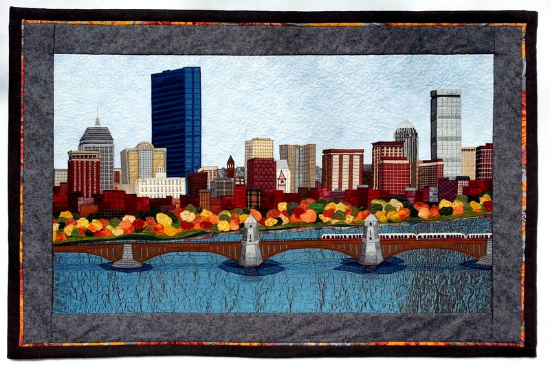 Boston Skyline in Autumn 43.5 in. x 29.5 in. 4-12-2014 2-23-19 PM