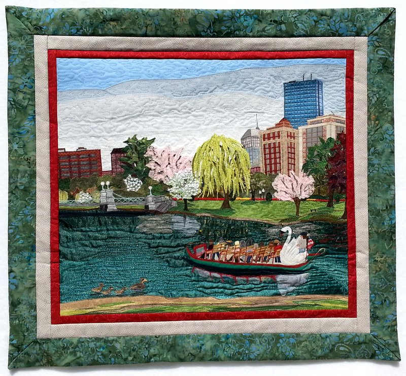 "Boston Public Garden in Springtime   22"" x 17.5"""