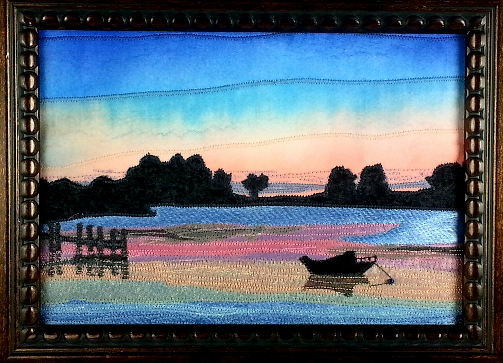 Snug Harbor Sunset detail West Falmouth, MA       23″ x 34″